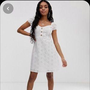 Boohoo eyelet dress